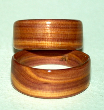 Wooden Rings on Juniper Heart Wood Wedding Rings By David Finch  Touch Wood Rings