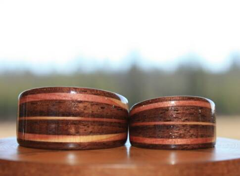 Amie and Scott's Touch Wood Rings