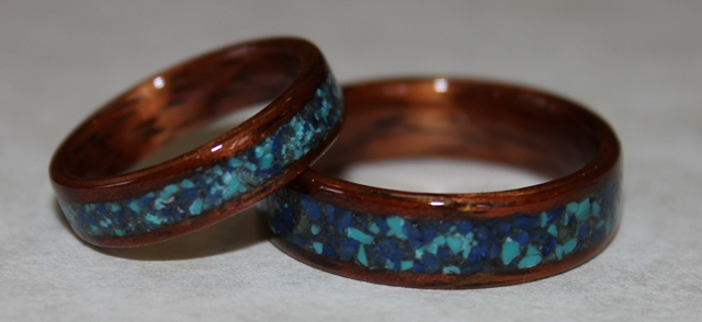 Emily and Tim's Touch Wood Rings