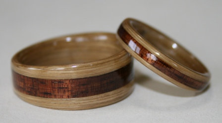 Bamboo Rings from Touch Wood Rings