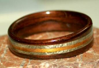 Rose wood rings from Touch Wood Rings
