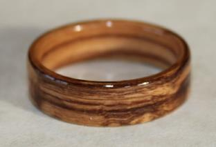 Touch Wood Rings, Man's Bethlehem Olive Wood Ring