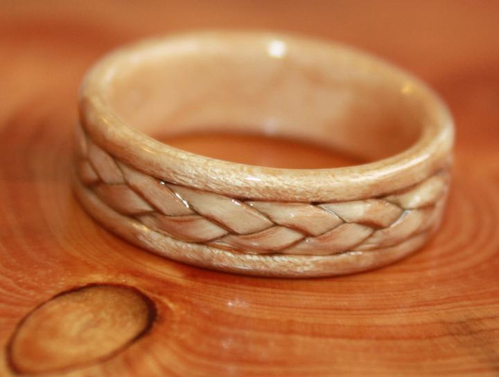 Wooden Engagement Ring Birch Wood