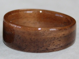 Mid Toned Walnut wooden ring from Touch Wood Rings