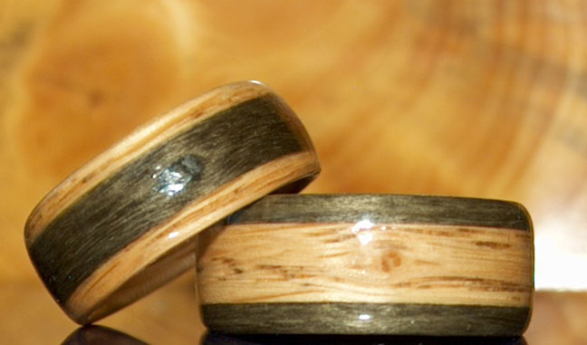 men's wooden commitment rings