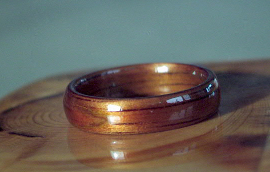 Hawaiian Koa Wood Ring, Touch Wood Rings