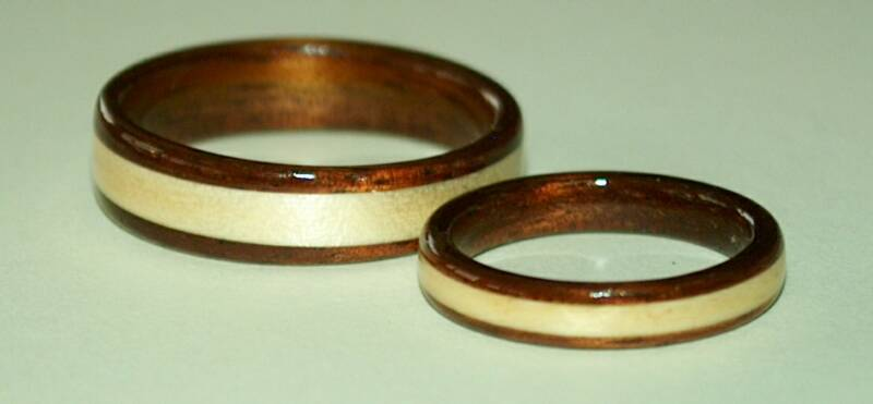 birch wood wedding rings