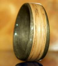 Oak and greyed maple commitment ring