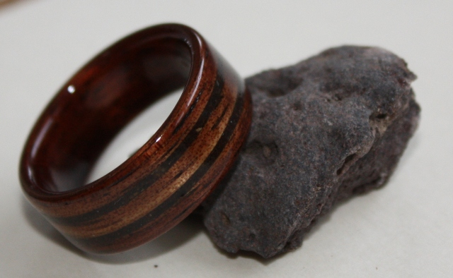 Touch Wood Rings Stone And Shell Inlays