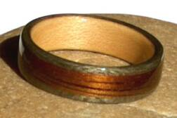 Man's Wood Ring, maple wood liner  view 3