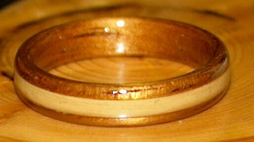 koa wood and bamboo ring