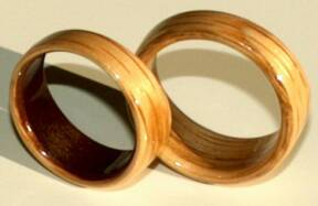 Oak Wood Wedding Rings from Touch Wood Rings  View 2