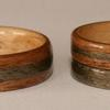 The darker primary wood in these rings is EUCALYPTUS