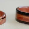 JUNIPER HEARTWOOD ring with African Blackwood.