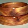 A couples set of JUNIPER HEART WOOD rings from the same piece of wood.  David will always make couples rings from the same piece when a matching set is requested.