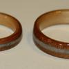 Cherry wood rings, SITKA SPRUCE LINERS and found crystal inlay