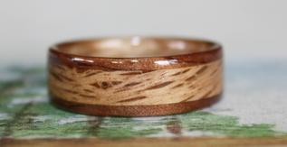 Custom and hand crafted Wooden Ring by Touch Wood Rings