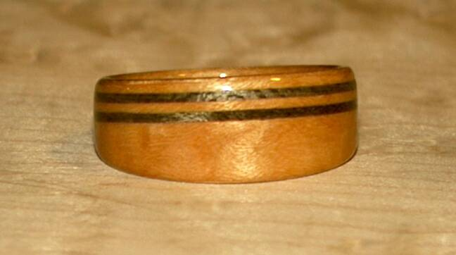 Birds Eye Maple Wood Ring & Greyed Maple