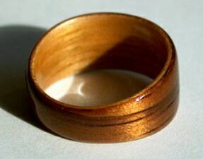 Koa and Juniper Wood Wedding Ring View 2