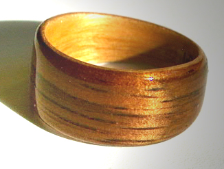 Koa and Juniper Wood Wedding Ring