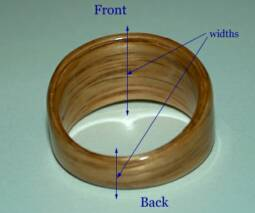 wood ring width and tapering