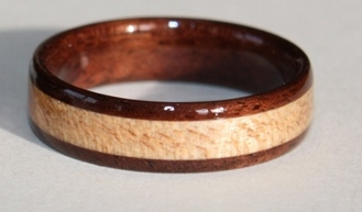 Black Walnut Ring with Maple iinlay