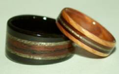 custom made wooden rings
